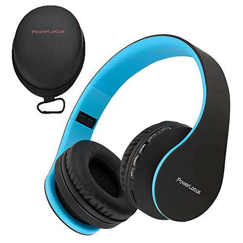 PowerLocus Wireless Bluetooth Over-Ear Stereo Foldable Headphones, Wired...