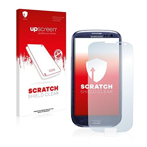 upscreen Schutzfolie kompatibel mit Samsung Galaxy S3 I9300 – Kristallklar, Kratzschutz, Anti-Fingerprint