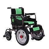 GJHW Silla De Ruedas Eléctrica Luz Inteligente Plegable En El Avión De Aleación De Aluminio Discapacitados Ancianos Ancianos Scooter,Green
