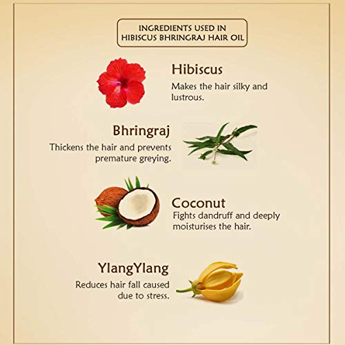 Ancient Living Hibiscus & Bhringraj Hair oil enriched with Ylang Ylang essential oil & organic coconut oil - 50 ml