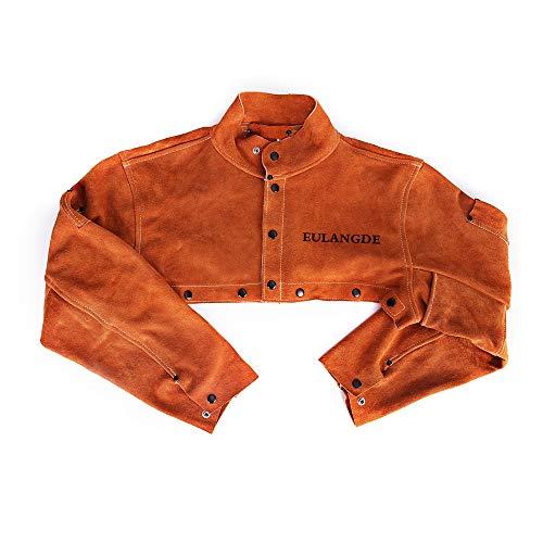 EULANGDE Premium Split Welders Heat Resistant Leather Cape Sleeve,Adjustable Cuffs, Adjustable Collar, M L XL 2XL 3XL for Men & Women (XX-Large)