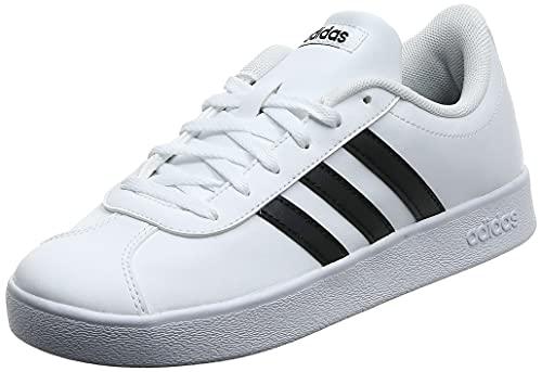 adidas VL Court 2.0 K, Zapatillas Unisex Adulto, Blanco (Footwear White/Core Black/Footwear White), 38 2/3 EU