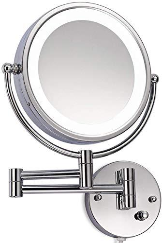 LED Beleuchtet wunderschöne Kosmetikspiegelhochwertig für die Wandmontage 3 hohe Vergrößerungsgrade wählbar 10Fach, JL58-10