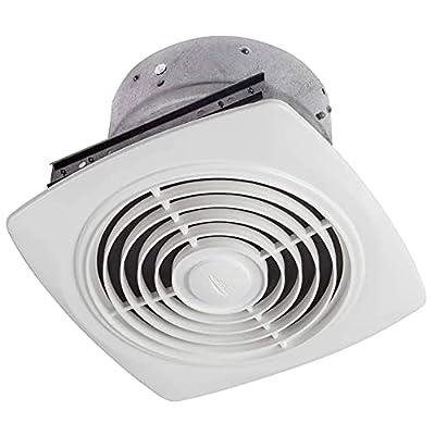 "Broan-Nutone 504 Exhaust Fan, White Vertical Discharge Ceiling Ventilation Fan, 6.5 Sones, 350 CFM, 10"""