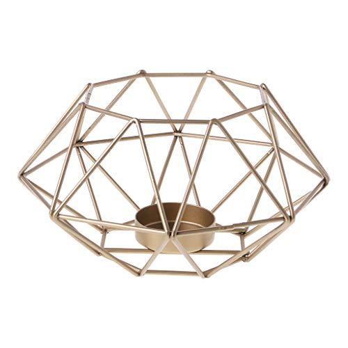 Koehope Kandelaar in Scandinavische stijl, 3D achthoek, geometrische metalen kaars, theelichtje, kandelaar, wandlamp, bruiloft, woondecoratie