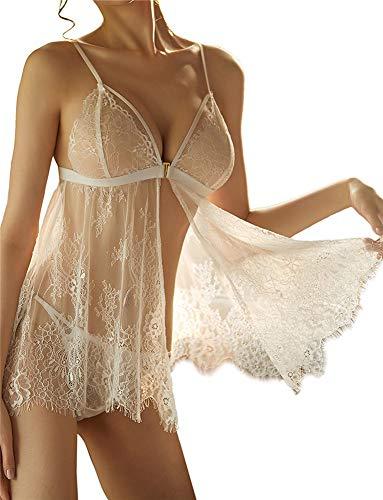 SxyBox Babydoll Lingerie Sexy Intimo Donna Biancheria Intima Confortevole Stile-Anteriore Aperto...