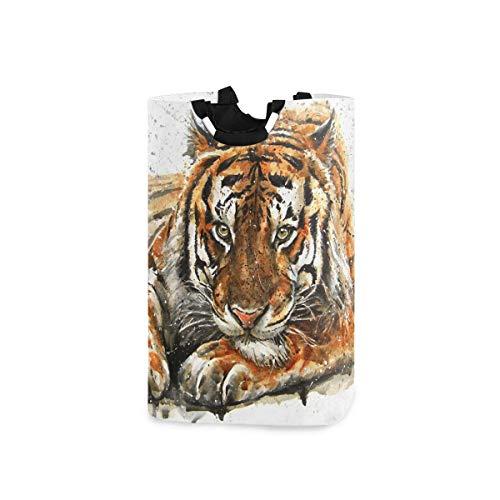 N\A Panier à Linge Tigre Vintage Panier à Linge Pliable en Tissu Panier à Linge Sac à vêtements Pliant