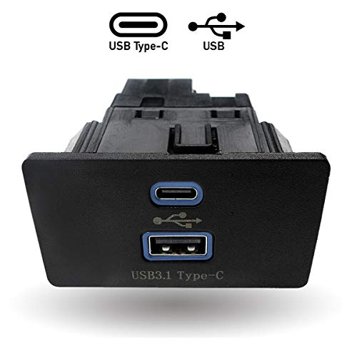 HX Dual USB Interface Module for Ford Lincoln Apple Carplay SYNC3,USB Type-C Interface Hub,Only 3.4 Version, HC3Z-19A387-B Blue