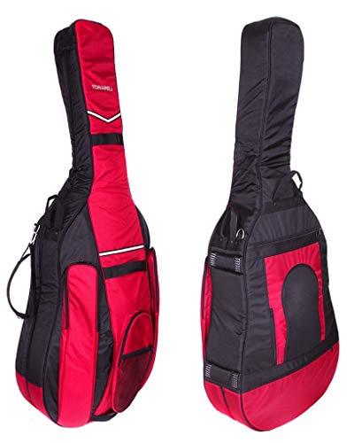 Tonareli Kontrabass Gig bag 3/4 Designer schwarz/burgund BGB34BB - Autorisierter Händler