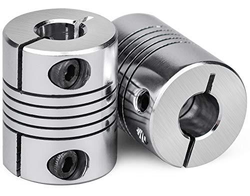 NATEE 2 pcs Flexible Wellenkupplungen 5mm bis 8mm Schrittmotor-Koppler Aluminiumlegierung Gelenkverbinder für RepRap 3D Drucker CNC Maschine