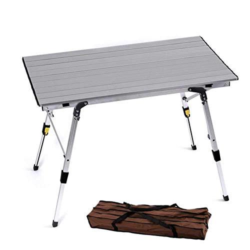 IUYJVR -Portable Camping Tisch Höhenverstellbar, Klapptisch aus Aluminiumlegierung, Ultraleichter Picknicktisch, für Gartenbalkon Strandwanderung Selbstfahrendes Auto