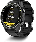 Fitness Tracker Smartwatches mit Herzfrequenz-Tracker Smartwatch-Unterstützung SIM TF-Karte Multi-Sport-Modell mit 300 W HD-Kamera Telefon Sport Fitness-Tracker-Schwarz
