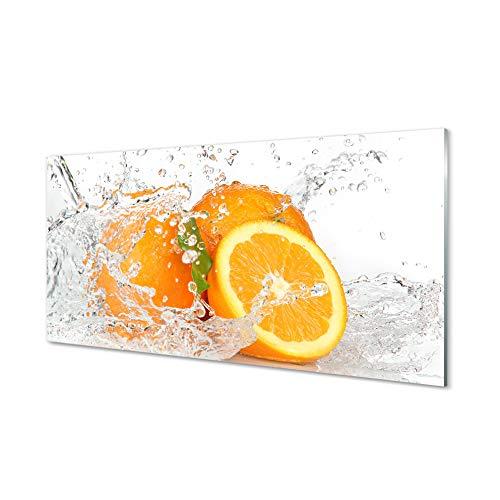 Tulup Cuadro de Acrílico Cristal 120x60cm Impresa Decoración De Pared Mural Frutas...