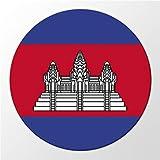 Kühlschrank Magnet Cambodia Kambodscha Flagge Asien Flag Magnettafel Whiteboard