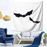 Lsjuee Pipistrelli Chauve Souris Halloween PNG Arazzo Appeso a parete Decorazioni per la casa Fan Art per Camera da letto Soggiorno Dormitorio