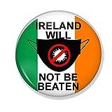 Gifts & Gadgets Co. Eire Irland Flag Will Not Be Beaten by Coronavirus Untersetzer, rund, 90 mm
