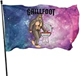 Oaqueen Flagge/Fahne, Barbecue Chef Flag: 3x5 FT Flag Tough The Strongest, Longest Lasting Flag National Flag Outdoor Flags