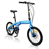 PEXMOR 20 Inch Adult Folding Bike, 7 Speed Foldable City Commuter Bicycle Thickened...