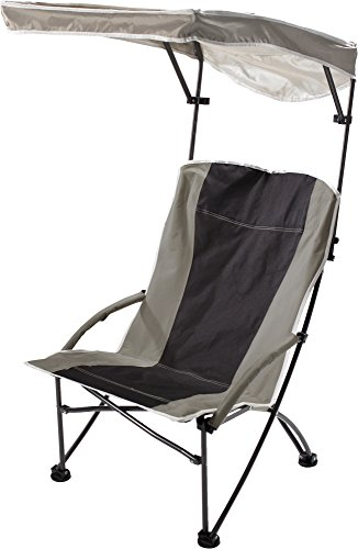 Quik Shade Pro Comfort High Back Shade Folding Chair, Tan/Black (160087)