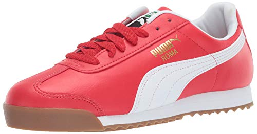 PUMA Men's Roma Basic Sneaker, high Risk red w, 12 M US