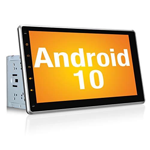 PUMPKIN Android 10 Autoradio Moniceiver mit Navi Unterstützt Bluetooth DAB + Android Auto WiFi 4G USB 10.1 Zoll IPS Bildschrim 2 Din
