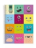 Finocam - Agenda Curso 2020-2021 Cuarto, 155 x 212 Semana Vista Apaisada Básica Monsters,...