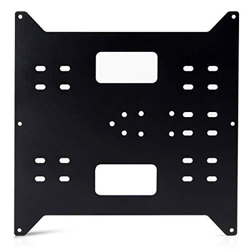Toaiot Upgrade - Pezzi di ricambio per letto riscaldabile, carrello in alluminio a Y con piastra a Y anodizzata per Maker Select/Stampanti 3D Wanhao Duplicator i3/i3 Mega - Nero