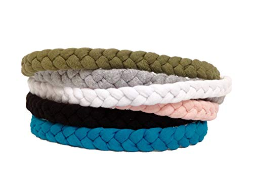 6 Pieces Braided Headbands for Women - Workout Headbands Sport Yoga Running Braided Headbands - Boho Headbands