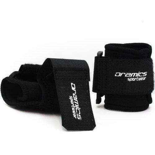 Oramics - 2 x Handgelenkbandagen in Schwarz - Idealer Schutz vor Überlastung - Stabilisieren und Entlasten das Handgelenks - Ideal für verschiedene Freizeit- und Sportaktivitäten