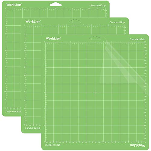 Flymmy 12x12 Variety Mats for Cricut Explore Air 2//Air//One//Maker with 5PCS Blades StandardGrip//LightGrip Multiple Adhesive Sticky Green Blue Cricket Cutting Mats for Cricut 3 Pack