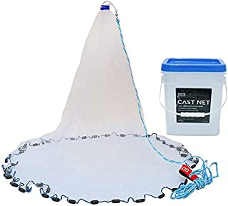 Goture American Saltwater Fishing Cast Net for Bait Trap Fish 4ft/6ft/8ft/10ft/12ft..