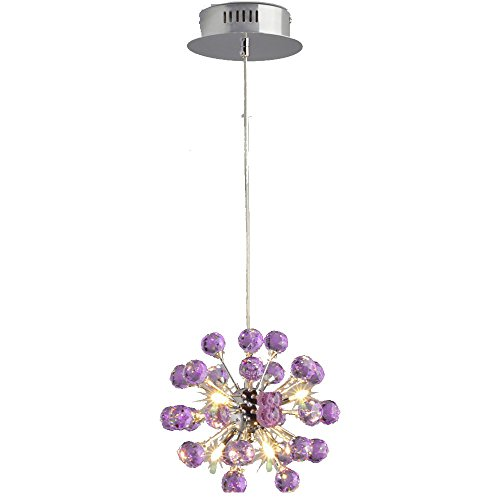 MAMEIModern Small Size Crystal Chandelier D8.67 Inch Included 6 Lights 3W Led Bulbs for Kitchen Island