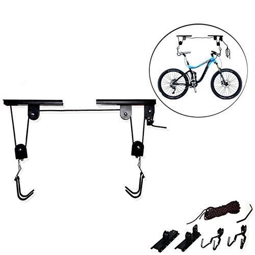 XIONGGG Bike Hoist Fahrradlift - Soporte para bicicletas de montaña (ajustable, para garajes altos)
