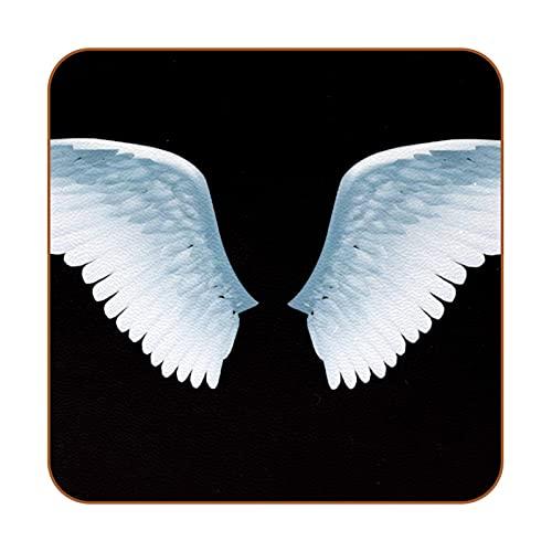 Juego de 6 Posavasos Antideslizantes de Cuero ala angelical Posavasos para Bebida Aislamiento térmico Anti escaldado