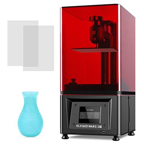 ELEGOO Mono 3D Drucker Mars 2 Pro, MSLA 3D Printer UV Lichthärtungs LCD Harzdrucker mit 6 Zoll 2K Monochrom LCD Bildschirm,Schnelle Druckgeschwindigkeit, Druckgröße 129 x 80 x 160 mm