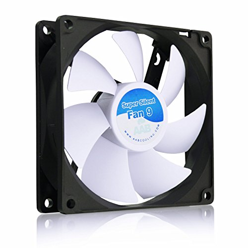 AABCOOLING Super Silent Fan 9 - Un Silencioso y Muy Efectivo Ventilador 92mm, Base Ventilador, Fan Cooler 9cm, Cooler 12V, 58m3/h, 1600 RPM 13,6 dB