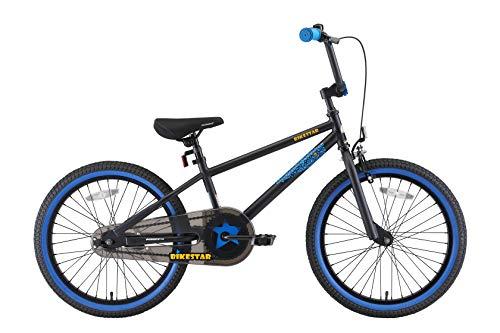 BIKESTAR Kinderfahrrad für Mädchen und Jungen ab 6-7 Jahre | 20 Zoll Kinderrad Kinder BMX Freestyle | Fahrrad für Kinder Schwarz & Blau - 2