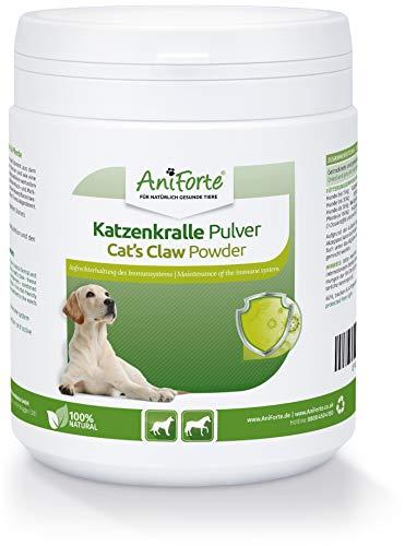 AniForte Katzenkralle Pulver für Hunde & Pferde - Natürliche Stärkung Immunsystem & als Gelenkpulver. Gemahlene Wurzelrinde für Stoffwechsel, Abwehrkräfte & Energie (250g)