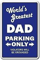 2個 世界最大のお父さん駐車場ブリキの看板金属板装飾看板家の装飾プラーク看板地下鉄金属板8x12インチ メタルプレート レトロ アメリカン ブリキ 看板