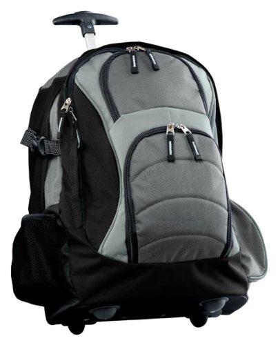 Port Authority Wheeled Backpack, Grey/Black, One Size