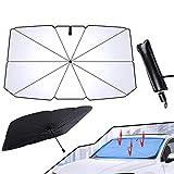 Parasol Coche Delantero Plegable, Parasol para Parabrisas Protección Contra Rayos UV y Calor, Parasoles de Coche para SUV/Automóviles/Camionetas 145*79 CM