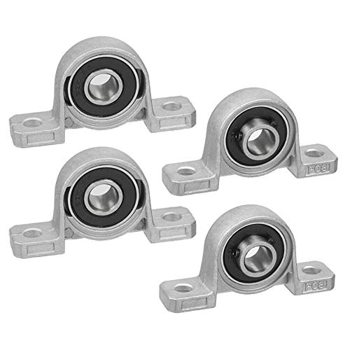 Saipor 4 rodamientos KP08 bloque de montaje de 8 mm, orificio de aleación de cinc, cojinetes de cojinete de cojinete de hierro fundido, juego de accesorios para impresora 3D