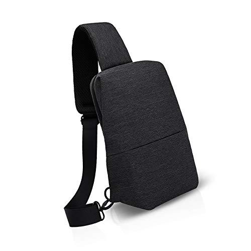 Unisex Sling Bag Shoulder Cross Body for Men One Backpack Outdoor Cycling Polyester Black