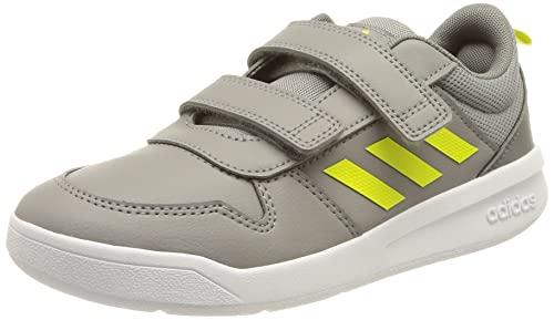 adidas Tensaur, Road Running Shoe, Grey/Acid Yellow/Grey, 27 EU