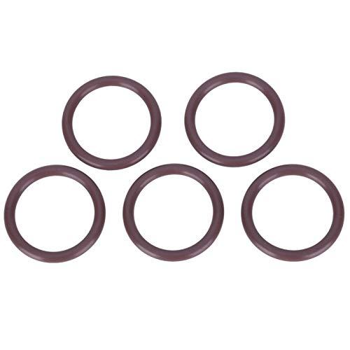SALUTUYA Válvula de Cilindro de Buceo O Ring 5PCS AS-050 Imported Brown FKM90 Alta confiabilidad Buena estanqueidad al Aire, para Instrumentos de precisión, para Equipos(24.99 * 3.53)