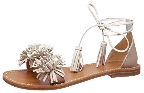 Gallucci Sandalen 10059 offen Leder Sand Beige, Schuhgröße:EUR 36