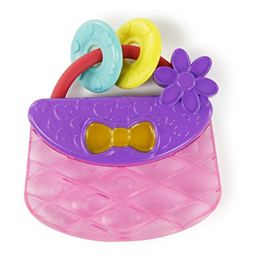 Bright Starts Carry & Teethe Purse Chillable Teether Toy, Ages 3 months +, Pretty in Pink