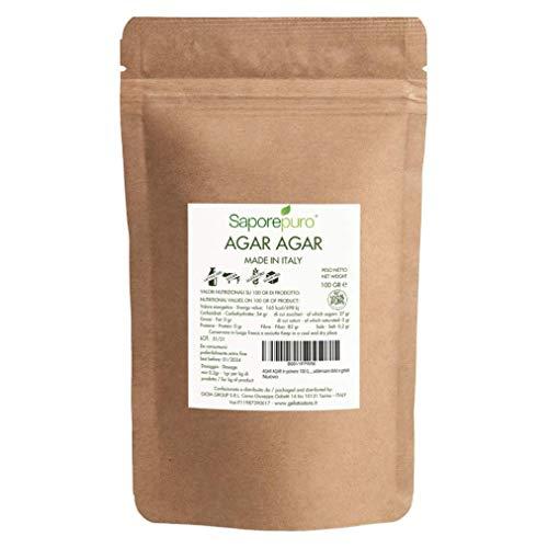 Agar Agar en polvo 100 gr - Espesante y Gelificante vegetal natural