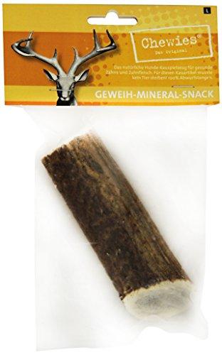 Chewies Geweih-Snack für Hunde - ganze Stange - Hirschgeweih Kauspielzeug - Abwurfstange vom Rothirsch -  Kau-Knochen aus Horn - natürlich & unzerstörbar - Größe L