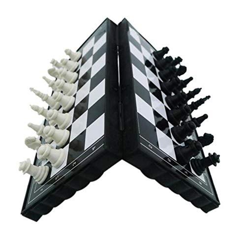 CoURTerzsl - Juego de ajedrez magnético para Viaje, Plegable, Juguete Educativo para Padres e Hijos